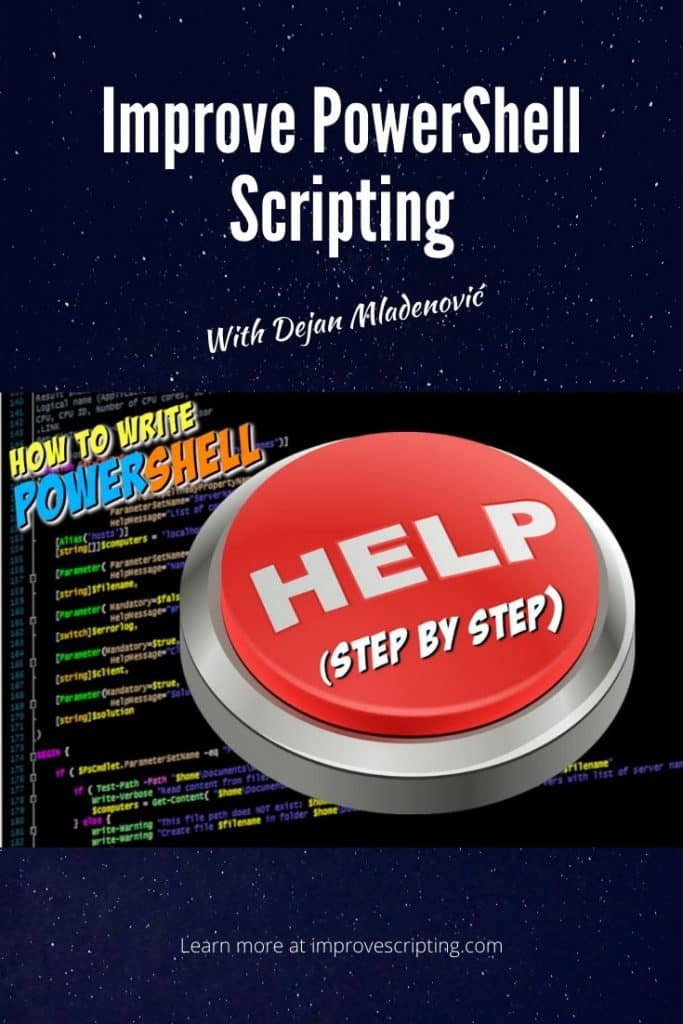 How to Write PowerShell Help Step by Step Pinterest