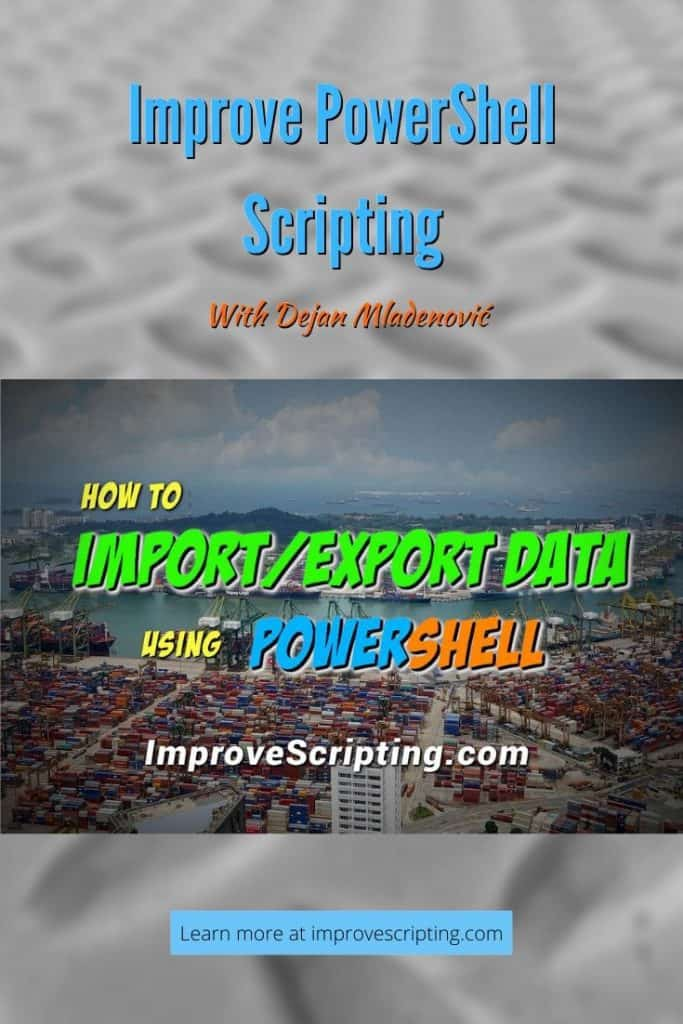 How To Import Or Export Data Using PowerShell
