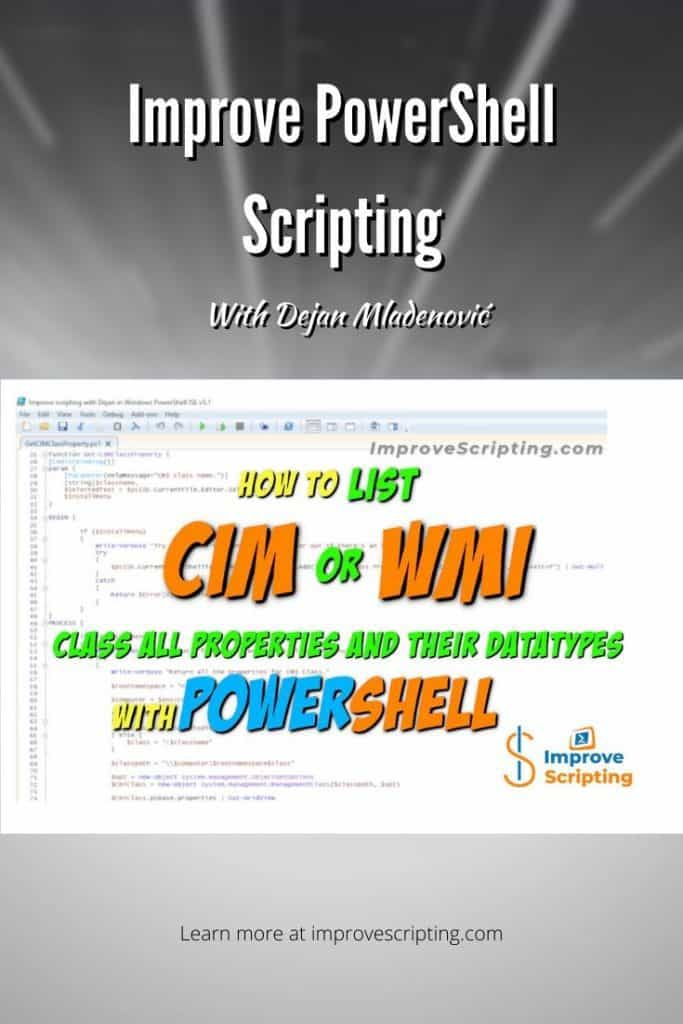How To List CIM Or WMI Class All Properties And Their Datatypes With PowerShell