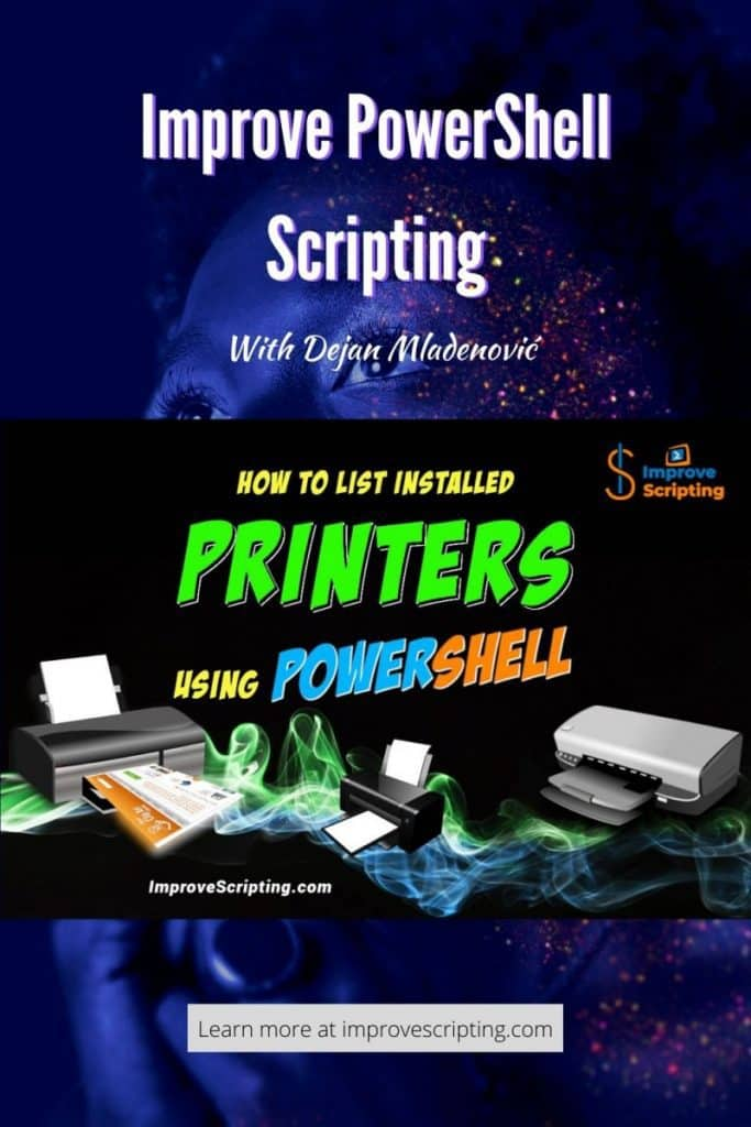 How To List Installed Printers Using PowerShell Pinterest