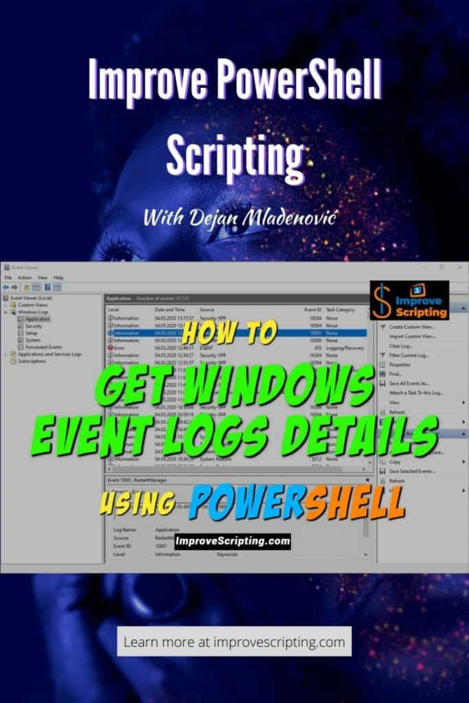 How To Get Windows Event Logs Details Using PowerShell