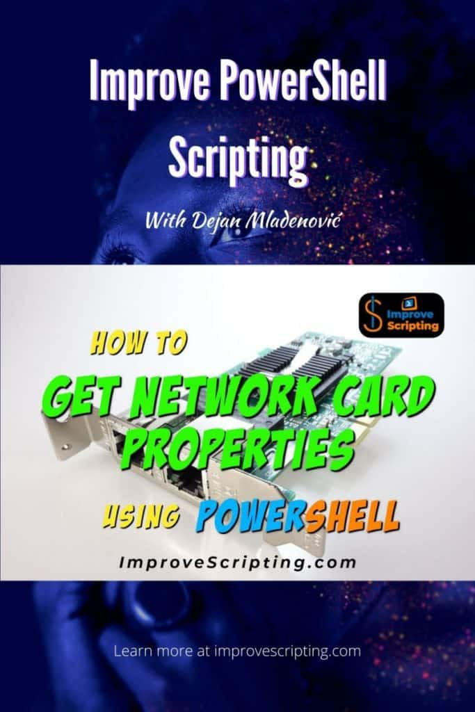 How To Get Network Card Properties Using PowerShell