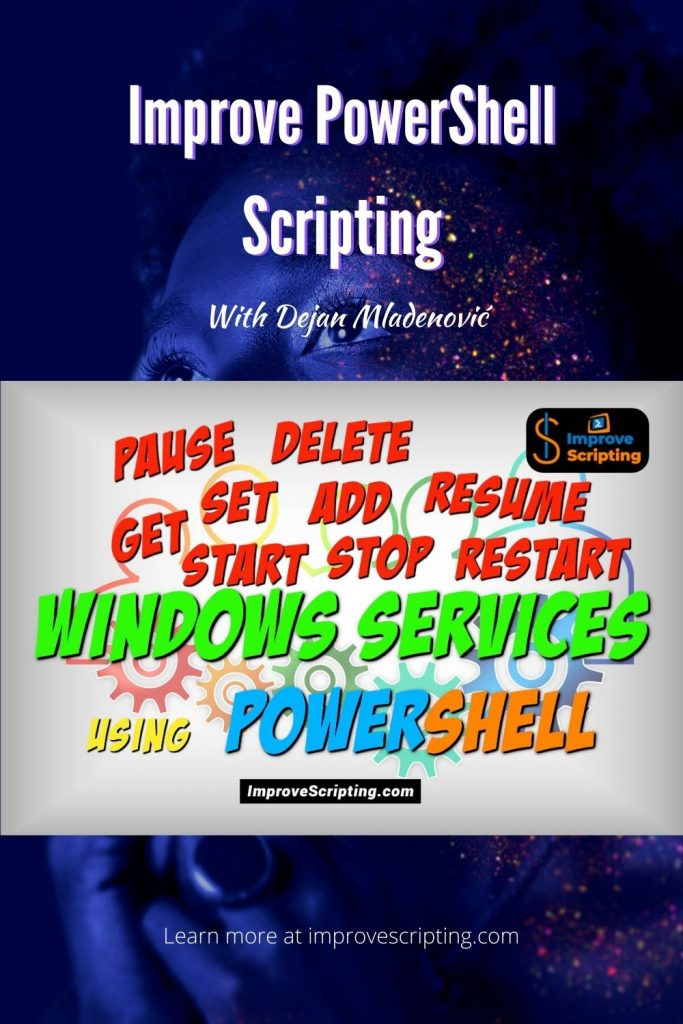 Handle Windows Services Using PowerShell With Easy Steps Pinterest
